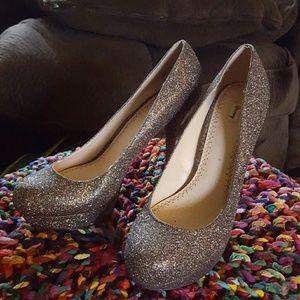 Olsenboye Shoes - Multi color sparkle platform heels
