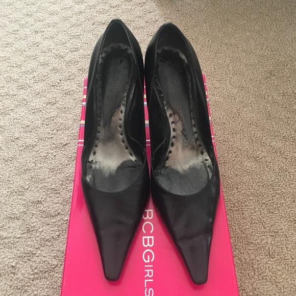 54d06d995c BCBGirls Shoes   Katchen Black Pointed Heels   Poshmark