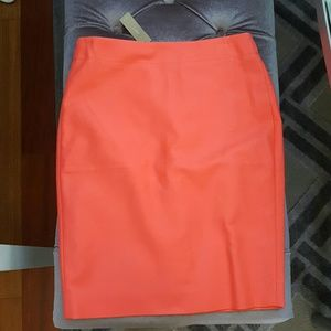J.Crew coral pencil skirt size 4 NWT