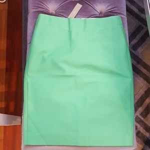 J.Crew pencil skirt kelly green size 4 NWT
