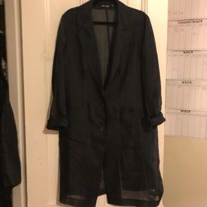 BLK DNM Tops - BLK DNM 100% sheer coat