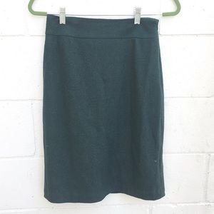 Banana Republic Green Midi Wool Pencil Skirt