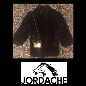 Jordache Jackets & Blazers - Vintage🌹Jordache🌹Black Fur Coat 🌹