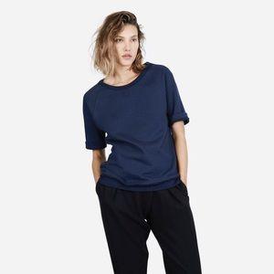 Everlane Tops - Everlane short-sleeved navy blue sweatshirt