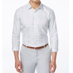 Alfani Other - Alfani Large-Grid Long-Sleeve Shirt. B092