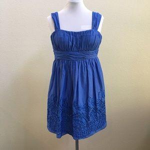 SL Fashions Dresses & Skirts - SL Fashions blue dress with eyelet trim