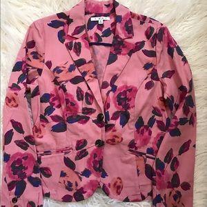 CAbi Jackets & Blazers - CAbi Rose Garden Floral Cotton Blazer Jacket Sz 8