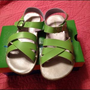Jumping Jacks Other - Jumping Jacks Lime Green Sandals