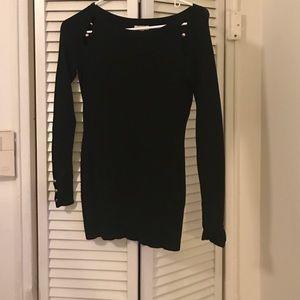 Alivia Simone Sweaters - xs Black cache sweater. Missing gold button