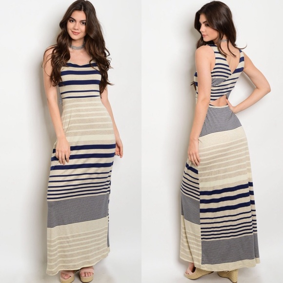 Outfit Striped Tank Maxi Dress