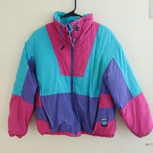 Vintage colorblock jacket coat