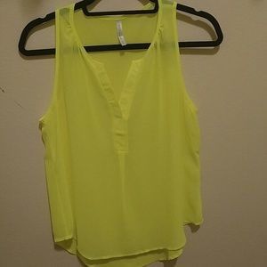 DNA Couture Tops - Neon Sleeveless Crop Top