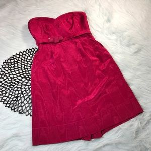 Rebecca Taylor Dresses & Skirts - Rebecca Taylor Pink Strapless Belted Mini Dress
