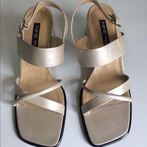 Women's Nine West strappy sandals heels size 8 M