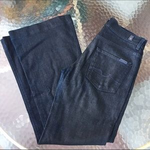 7 For All Mankind Coated Ginger Flare Jeans 27