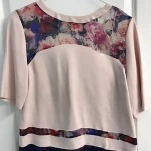 MSGM Tops - MSGM Pink and Floral Shirt