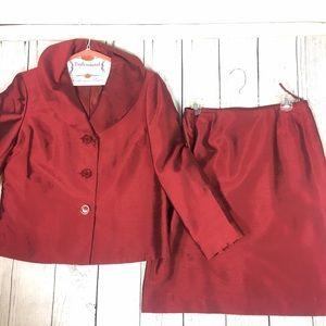 Le Suit Jackets & Blazers - 👩🏻 women's red party suit