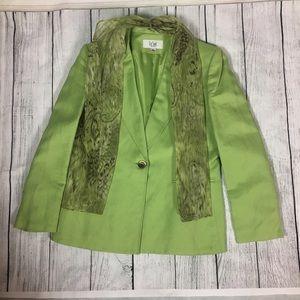 Le Suit Jackets & Blazers - 👩🏻Women's lime green linen blazer w/scarf 💚