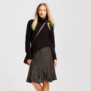 whowhatwear Dresses & Skirts - New polka dot gold and black ruffled skirt