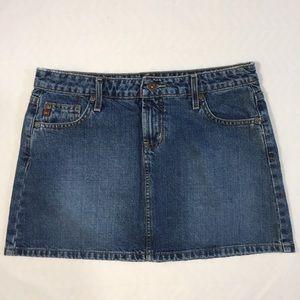 lei Dresses & Skirts - LEI Jean Mini Skirt Size 7