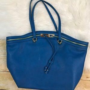 Olivia + Joy Handbags - Olivia + Joy Vegan leather blue purse