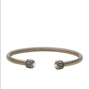 henri bendel Jewelry - Henri Bendel Gunmetal Hinged Cuff Bracelet