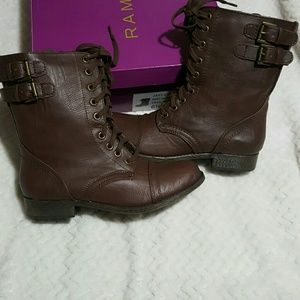 Rampage Shoes - Rampage Jaycer Brown Combat Boots 6.5 M