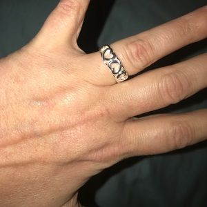 alloy Jewelry - NWT beautifully crafted 925silver heart ring size8