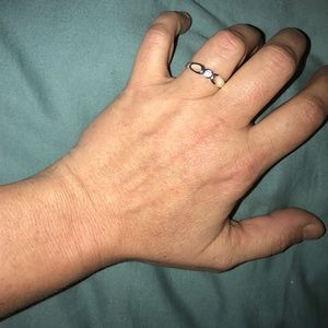 alloy Jewelry - NWT 925 silver and cz promise ring size 8 pretty