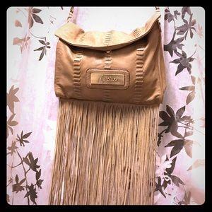 Marciano Handbags - Marciano Boho Leather Cross Body Messenger