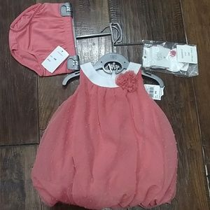 Petit Lem Other - NWT Petit lem coral balloon dress socks & bloomer