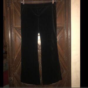 Theory Black Velvet Wide Leg Pant