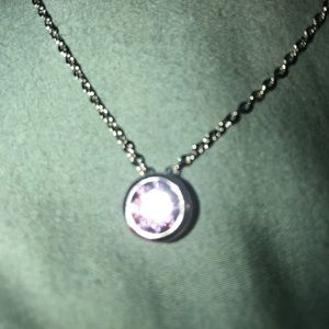 alloy Jewelry - NWT silver chain with amethyst gem with 925 silver