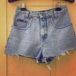VINTAGE New York & Company High Rise Cutoff Shorts