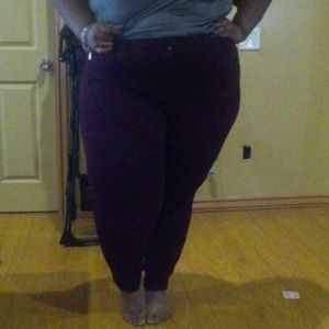 Maroon ponte pants