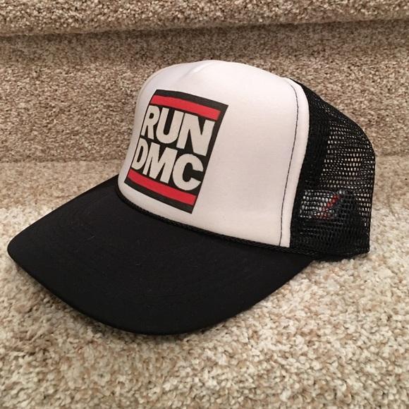 8ee1ade298887 Run DMC trucker hat. M 58ccae51ea3f364cb50578bb