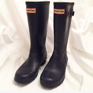 Hunter Boots Other - Hunter Tall Rain Boots Girls 3