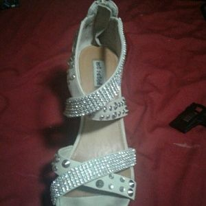 Not Rated Shoes - Blinged out wedge heels
