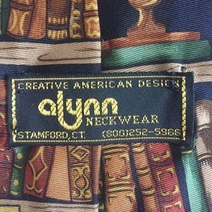 Alynn silk tie, made in USA