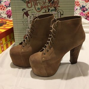 Jeffrey Campbell Jeffery Campbell Cors Taupe Suede Dress