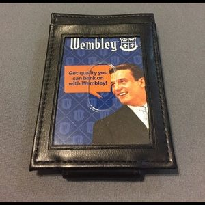 Other - Black leather money clip
