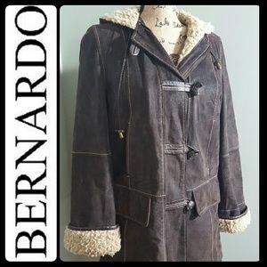 Bernardo Jackets & Blazers - Bernardo Suede Leather Coat