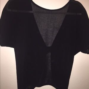 Tops - Beautiful sheer top with open back with bow