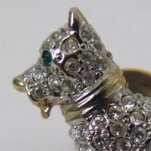 Jewelry - Vintage Rhinestone Scottie Dog Brooch