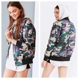 NWT UO Camouflage Bomber Jacket