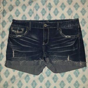 Ariya Pants - EUC jean shorts with studs
