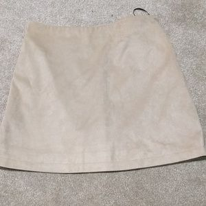 Forever 21 Dresses & Skirts - Faux suede nude skirt