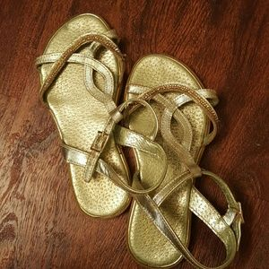 Pampili Other - Pampili golden sandals 12