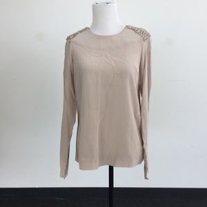 Cos Tops - Beige Silk Cos Top