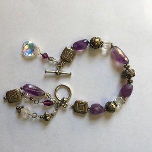 Jewelry - Natural Gemstone & Charm Girly Bracelet